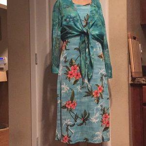 2-piece Hawaiian dress and bolero jacket